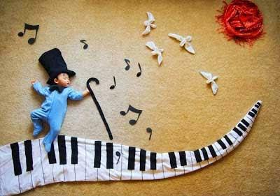 kreatifitas bayi tidur