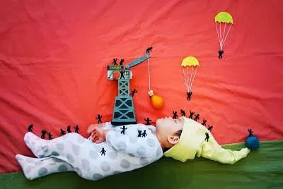 kreatifitas bayi tidur5