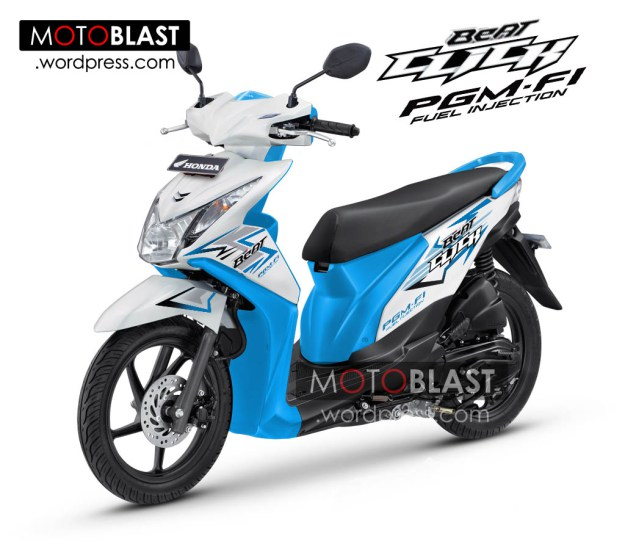 Modifikasi Honda Beat Fi  Click Biru