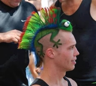 Tatto Iguana di Kepala