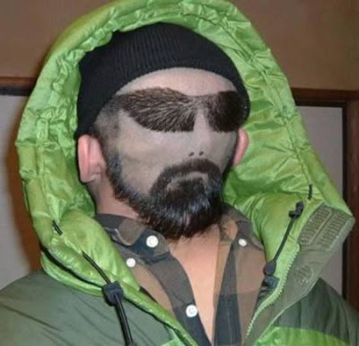 Tatto wajah Orang di kepala