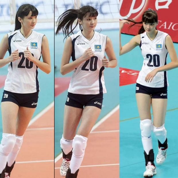sabina atlet voli dari kazakhstan 1