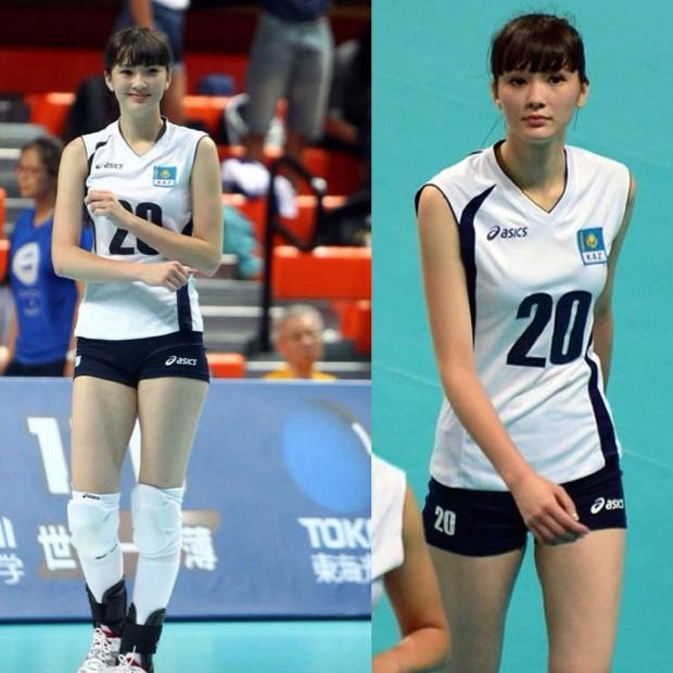 sabina atlet voli dari kazakhstan 3