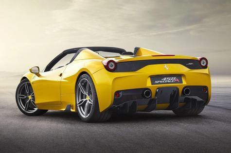 Ferrari 458 Special Aperta Limited Edition back