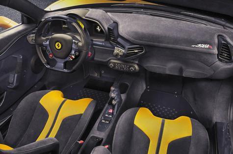 Ferrari 458 Special Aperta Limited Edition interior