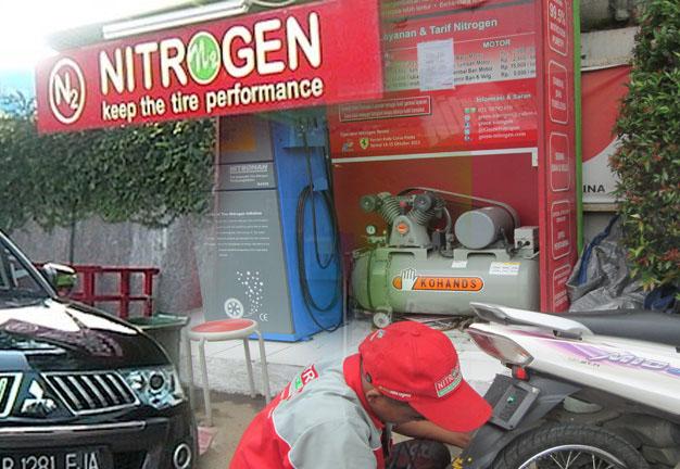 Isi ban dengan Nitrogen