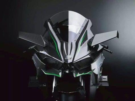 kawasaki ninja H2 2015 tampak depan