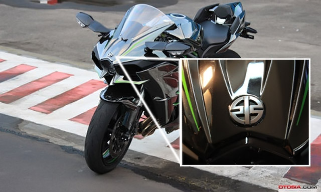 Logo misterius Kawasaki h2
