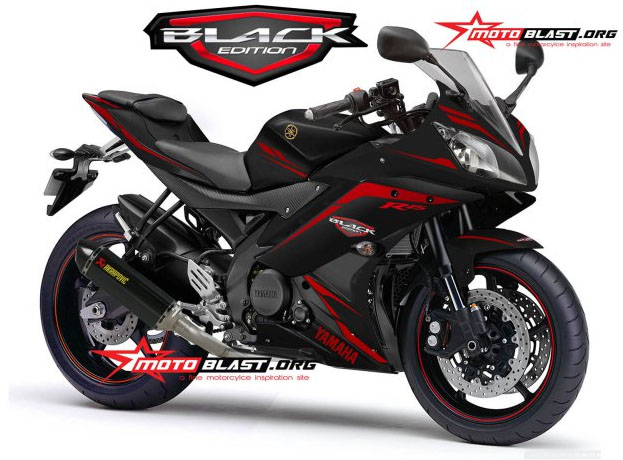 modif striping yamaha R15 Balck Edition Motoblast