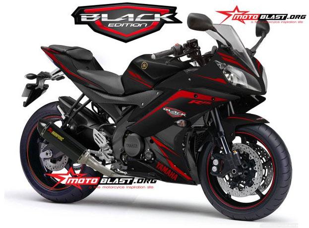 modif striping yamaha R15 Balck Edition Motoblast