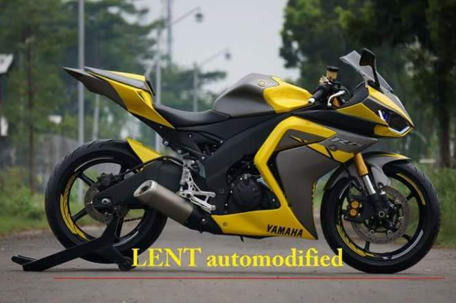 Modifikasi Yamaha R25 Lent automodified asal probolinggo 1